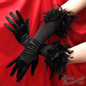 כפפות שחורות סקסיות