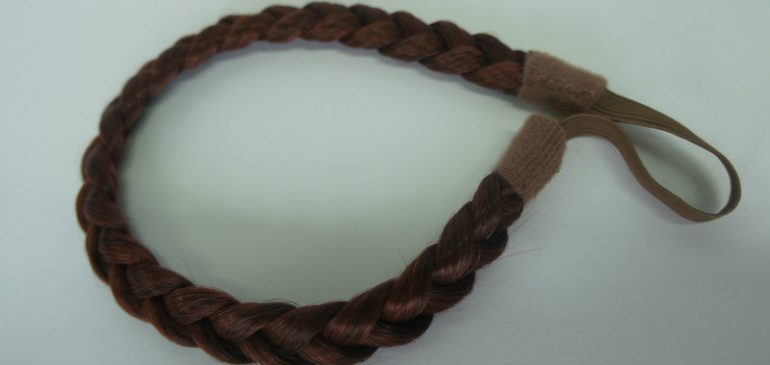 braided brunette headband