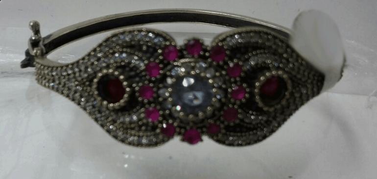 посеребренные браслет