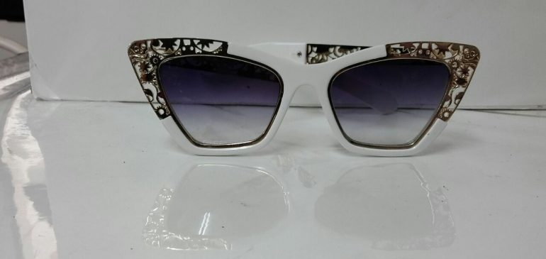 White decorated frame sunglasses