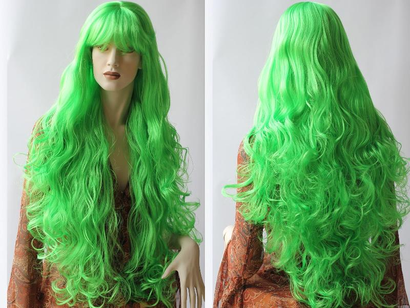 Long Green Wig dc27fee937ad