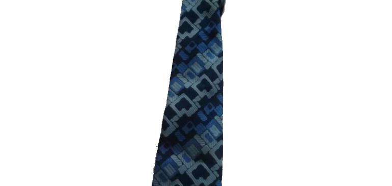 עניבת וינטג' כחולה