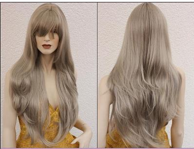 Long, Amazing Platinum Wig