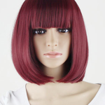 Synthetic wig, red Bob short.