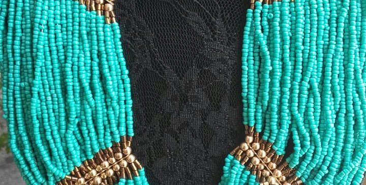 Amazing, turquoise beads, Necklace + gift