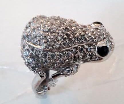 Silver Ring, Frog Shaped