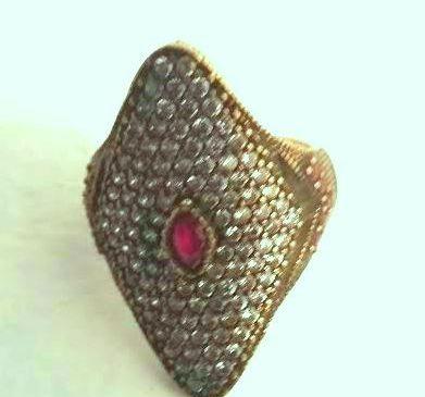 טבעת כסף מעוין