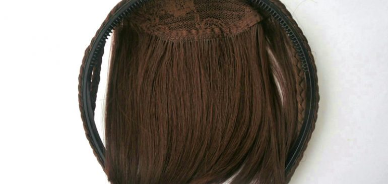 Synthetic bangs hair extension