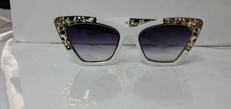 White decorated frame sunglasses