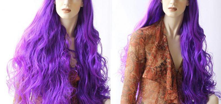 Long, Amazing, Purple Wig