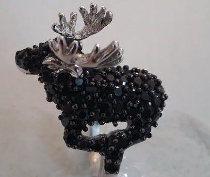 Silver Moose Ring