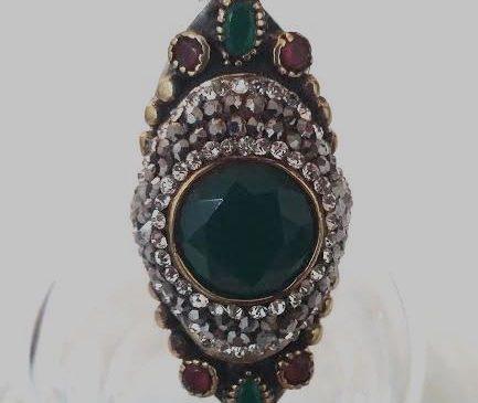 Green Gem Silver Ring